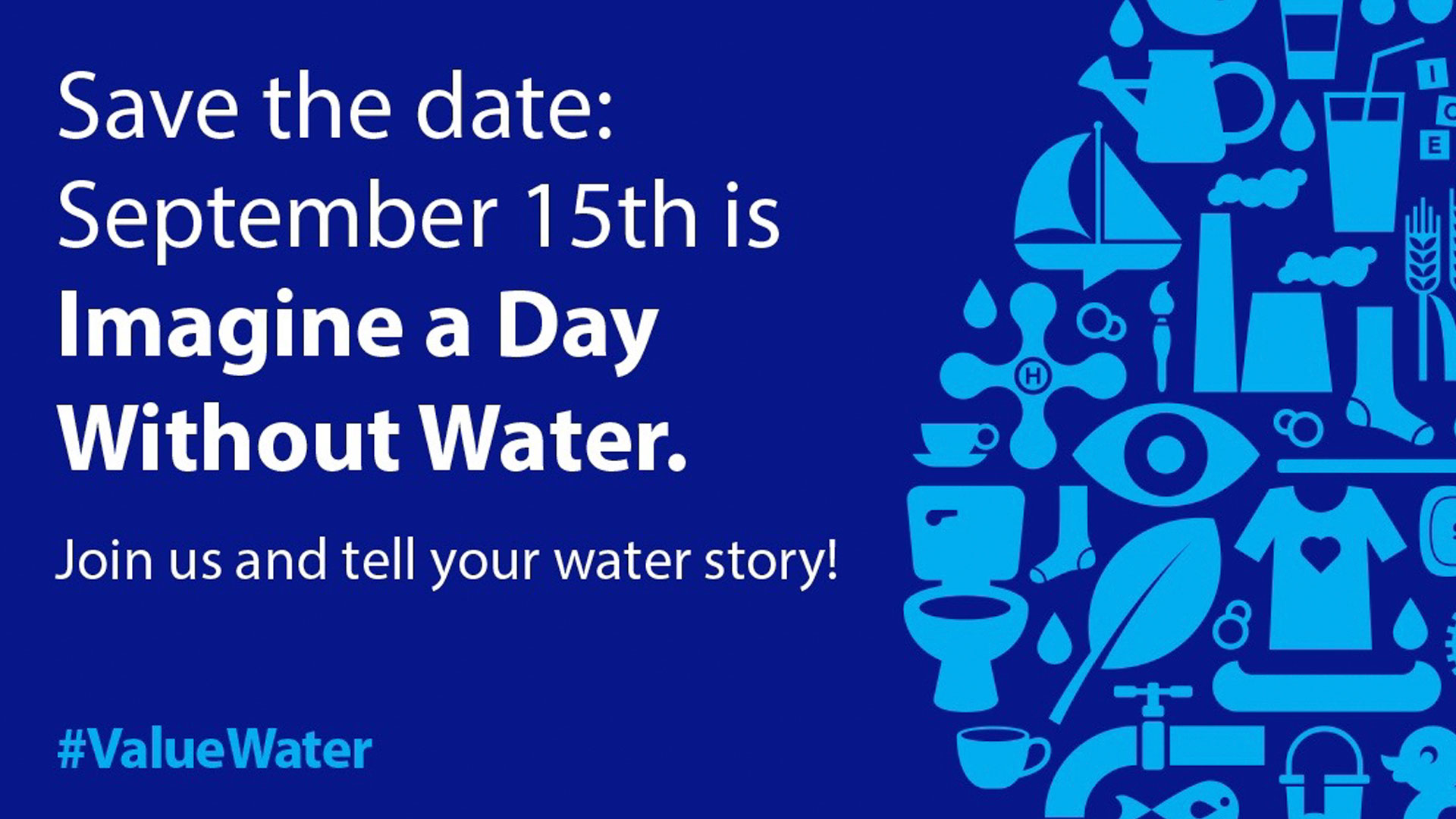 imagine a day without water Imagine a day without water the board of water supply along with the city's department of environmental services and department of facility maintenance wants residents on oahu to do just that on.